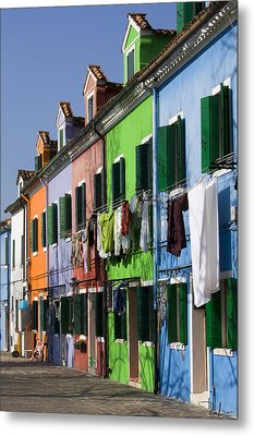 Metal Print featuring the photograph Happy Houses by Raffaella Lunelli