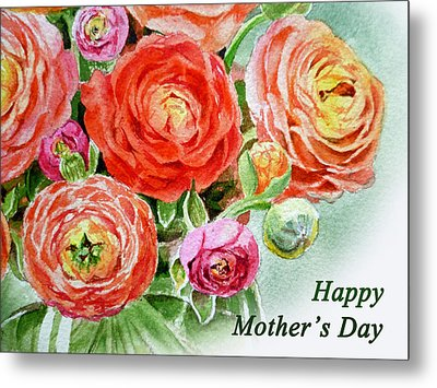 Happy Mothers Day Card Metal Print by Irina Sztukowski