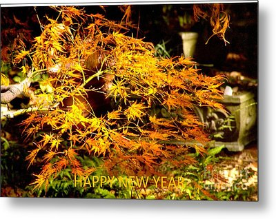 Happy New Year  - Card Metal Print