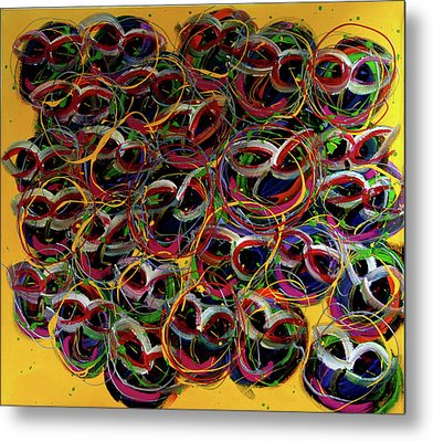 Happy Smiling Faces Metal Print by Karen Elzinga