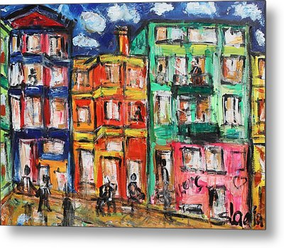 Happy Street Metal Print by Sladjana Lazarevic