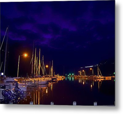 Metal Print featuring the photograph Harbor Nights by Kelly Reber