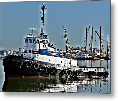 Metal Print featuring the photograph Harbor Tug by John Collins