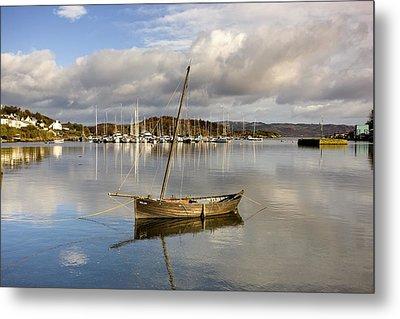 Harbour In Tarbert Scotland, Uk Metal Print