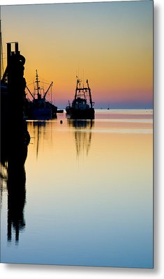 Metal Print featuring the photograph Harbour Sunrise by Trevor Chriss