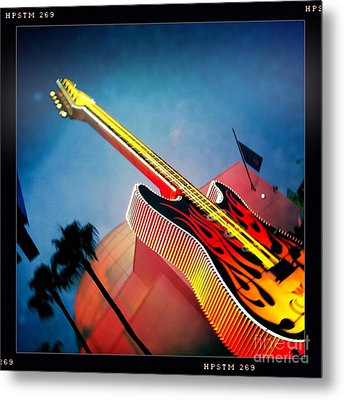 Metal Print featuring the photograph Hard Rock Guitar by Nina Prommer