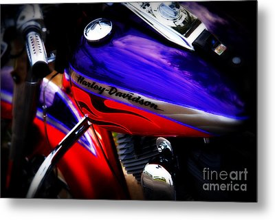 Harley Addiction Metal Print by Susanne Van Hulst
