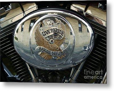 Harley Davidson Bike - Chrome Parts 44c Metal Print