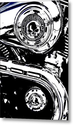 Metal Print featuring the photograph Harley Skulls by Randall  Cogle