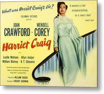 Harriet Craig, Joan Crawford, 1950 Metal Print by Everett
