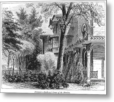 Hartford: Armsear Mansion Metal Print by Granger