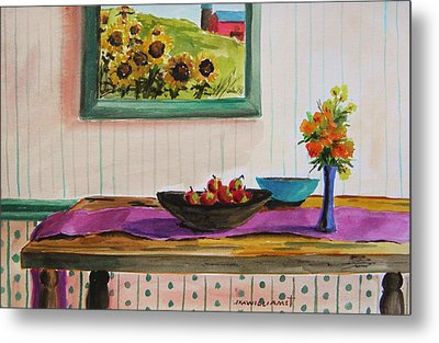 Harvest Table Metal Print by John Williams