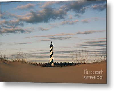 Hatteras Lighthouse And The Smiling Dune Metal Print