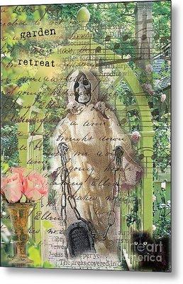 Haunted Garden Retreat Metal Print by Ruby Cross