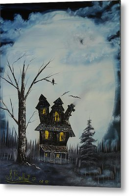 Haunted House 2007 Metal Print by Shawna Burkhart