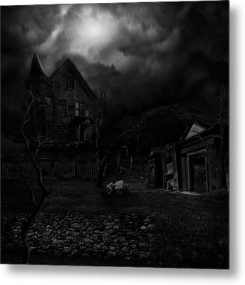 Haunted House II Metal Print by Lisa Evans