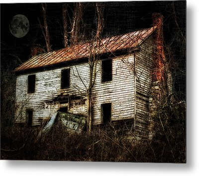 Haunted House On The Hill Metal Print by Kathy Jennings