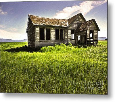 Haunted Shack In Idaho Metal Print by Gregory Dyer