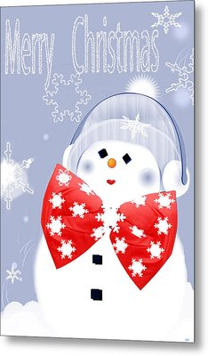 Have A Frosty Holiday Metal Print by Debra     Vatalaro