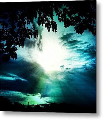 Have A #good #evening #friends Metal Print by Lori Lynn Gager