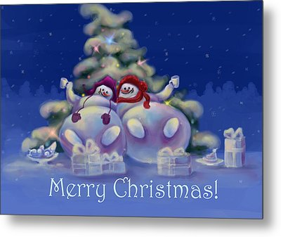 Have A Merry Christmas Metal Print by Anastasia Michaels