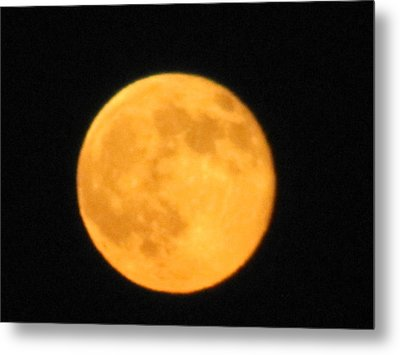 Metal Print featuring the photograph Havest Moon by Shawn Hughes