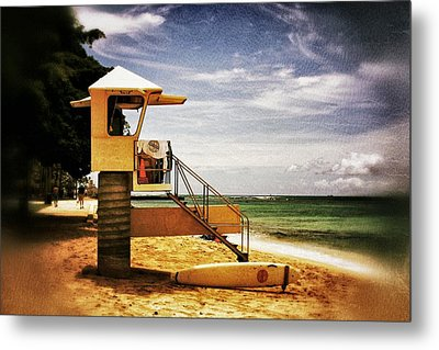 Metal Print featuring the photograph Hawaii Lifeguard Tower 2 by Jim Albritton