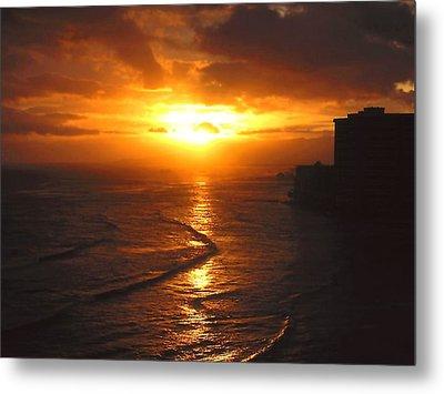 Hawaii Surf Metal Print