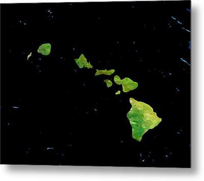 Hawaiian Islands Chain Metal Print by Karen Nicholson