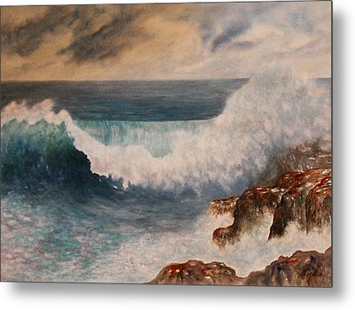 Metal Print featuring the painting Hawaiian Wave by Kerri Ligatich