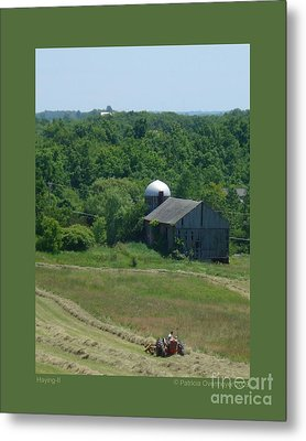 Haying-ii Metal Print by Patricia Overmoyer