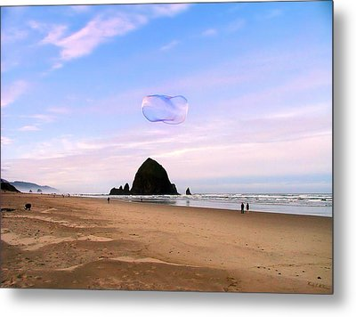 Haystack Bubble Metal Print by Wendy McKennon