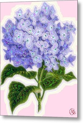 Hazy Hydrangea Metal Print by Mary M Collins
