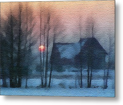 Hazy Winter Morning Metal Print by Anthony Caruso