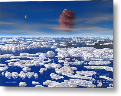 Hd 168443 C And Moons Metal Print by Lynette Cook