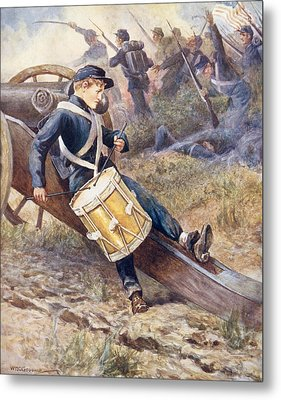 He Crawled Behind A Cannon And Pale And Paler Grew Metal Print by William Henry Charles Groome