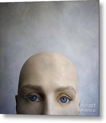 Head Of A Dummy. Metal Print by Bernard Jaubert