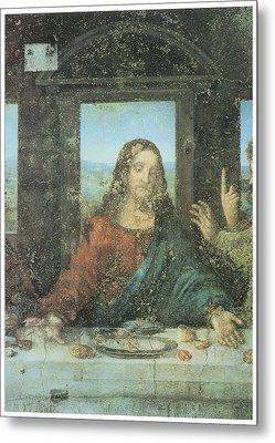 Head Of Christ Detail From The Last Supper Metal Print by Leonardo Da Vinci