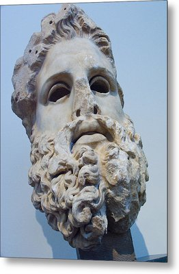 Head Of Zeus At The Acropolis Museum Metal Print by Richard Nowitz