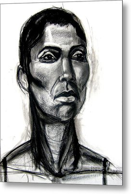 Metal Print featuring the drawing Head Study by Gabrielle Wilson-Sealy