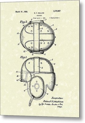 Headgear 1926 Patent Art Metal Print by Prior Art Design