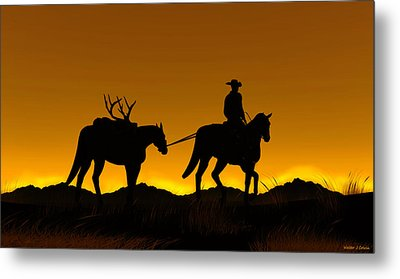 Metal Print featuring the digital art Heading Home by Walter Colvin