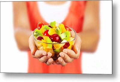 Healthy Fruit Salad Metal Print by Anna Om