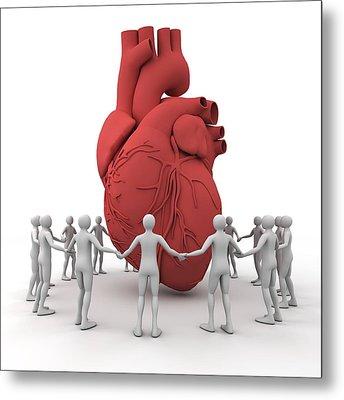 Heart Care, Conceptual Image Metal Print by Pasieka