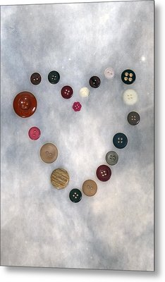 Heart Of Buttons Metal Print by Joana Kruse