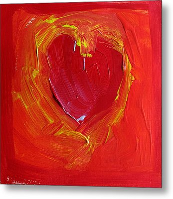 Heart Of Cupids Joy At The Moment Of Transformation Dripping Oozing Love When Pierced With Open Fear Metal Print by ImQueer AndLoveIt