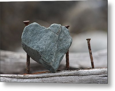 Heart Of Stone Metal Print by Cathie Douglas