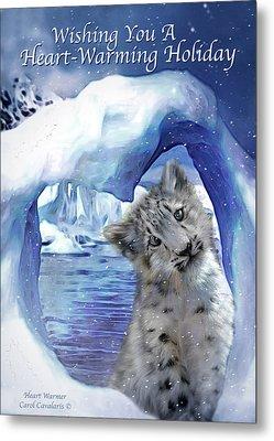 Heart Warmer Card Metal Print by Carol Cavalaris