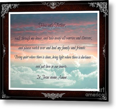 Heavenly Father Prayer Metal Print