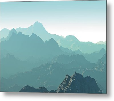 Heavens Breath 14 Metal Print by The Art of Marsha Charlebois